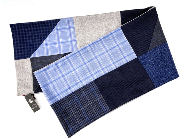 Swell Fellow Scarf: Geometirc Patchwork Blue