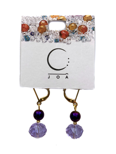 J.O.A - Purple beads earrings