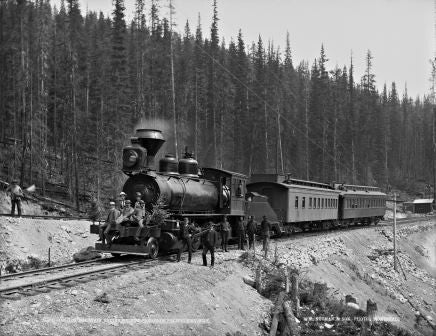 100 ton mountain engine on the C.P.R., near Field, BC, 1889