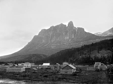 Silver City and Castle Mountain, near Banff, AB, 1884