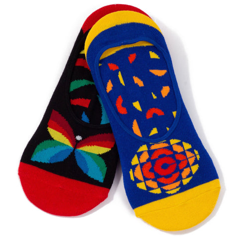 Two Pairs of CBC Retro Logos Slip-On Socks