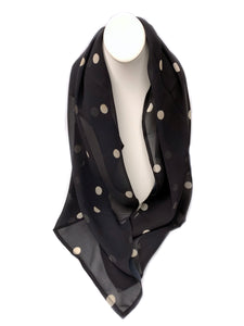 Dior Inspired McCord Chiffon Square; Polka Dot