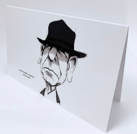 Leonard Cohen greeting card