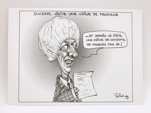 Gilles Duceppe postcard