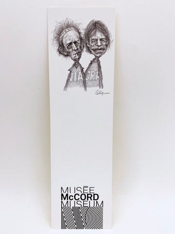 Keith Richards and Mick Jagger bookmark