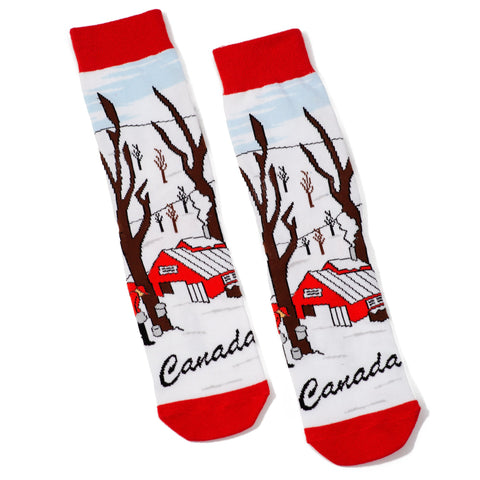 Canadian Maple Syrup Can Socks