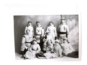 Notman Greeting Card: Atwater group, members of Tuque Bleu Club