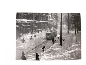 Notman Greeting Card: Stormy day, St. Catherine Street
