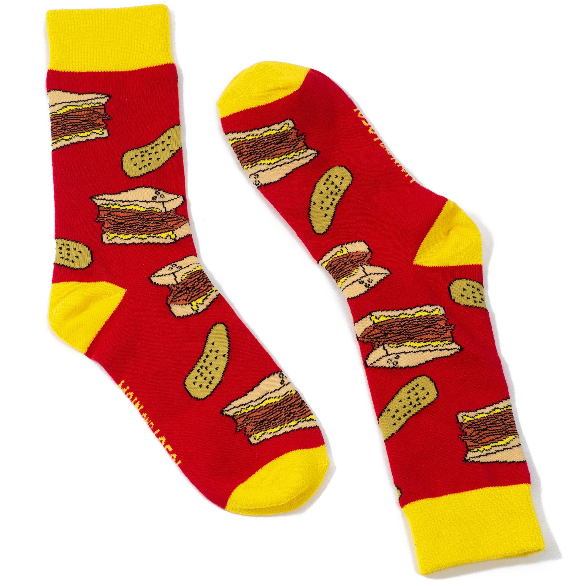 Smoked Meat and Pickles Socks