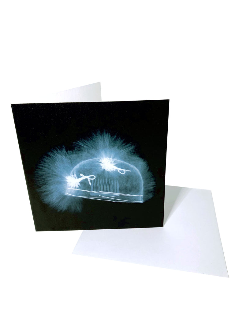 Greeting Card, X-Ray of Balenciaga Ostrich Hat