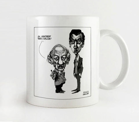 Mug, René Levesque and Robert Bourassa