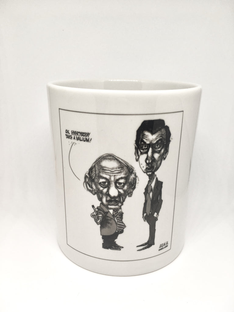 Pencil Holder, René Lévesque and Robert Bourassa