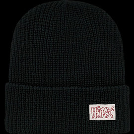 Hoax Black Knit Cap Red Outline