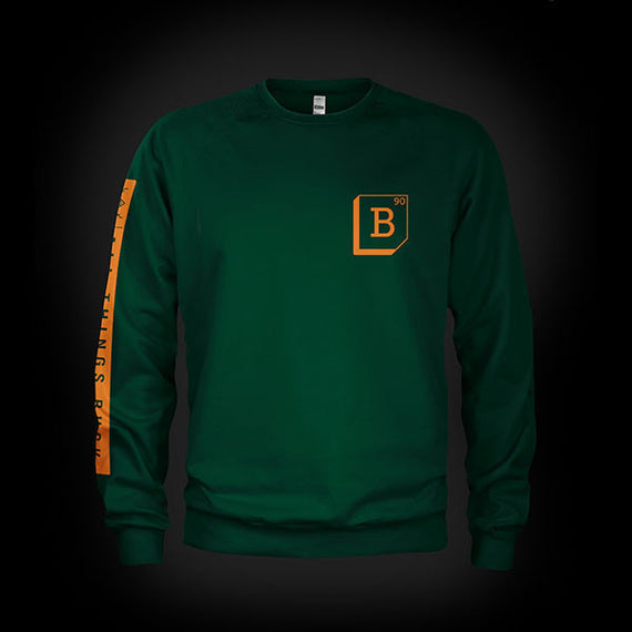 Buck 90 Elemental Midweight Crewneck Sweat Green