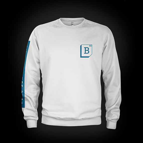 Buck 90 Elemental Midweight Crewneck Sweat White