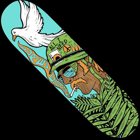 All I Need Goonan Peace Dove Skateboard Deck 8.25