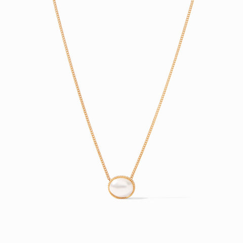 Julie Vos Verona Solitaire Gold Pearl Necklace