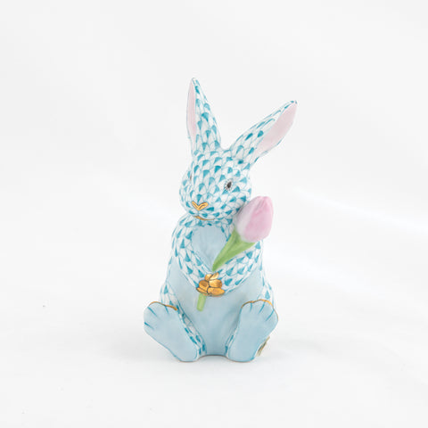 Herend Blossom Bunny, Turquoise