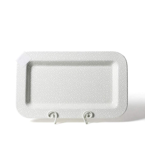 Happy Everything Stone Small Dot Mini Entertaining Rectangle Platter