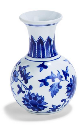 Blue and White Bud Vase