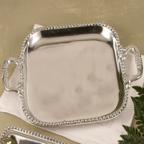 Beatriz Ball PEARL David Square Tray, MEDIUM