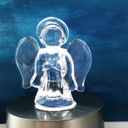 Simon Pearce Small Glass Angel in Gift Box