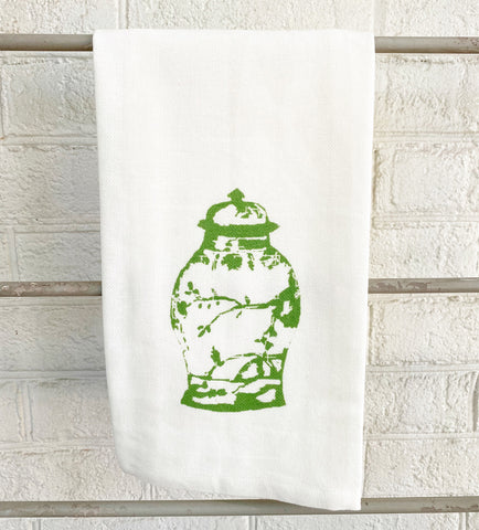 Watercolor Ginger Jar Tea Towel