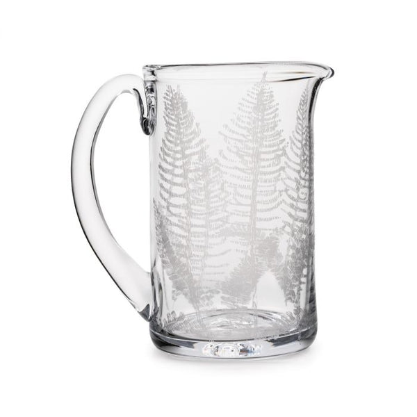Simon Pearce Engraved Fern Pitcher, Medium