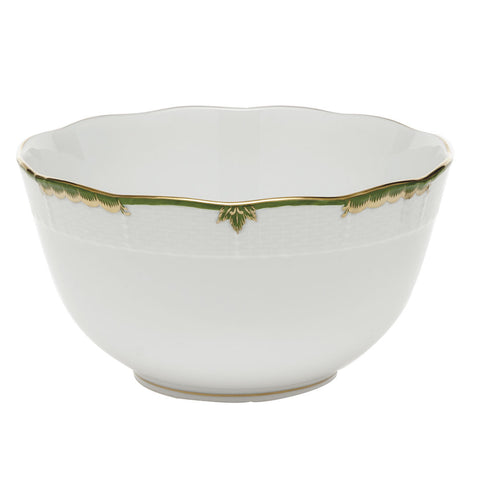Herend Princess Victoria, Dark Green Round Bowl