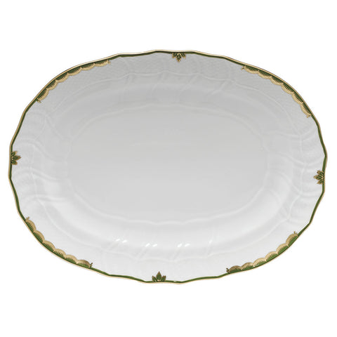 Herend Princess Victoria, Dark Green Platter