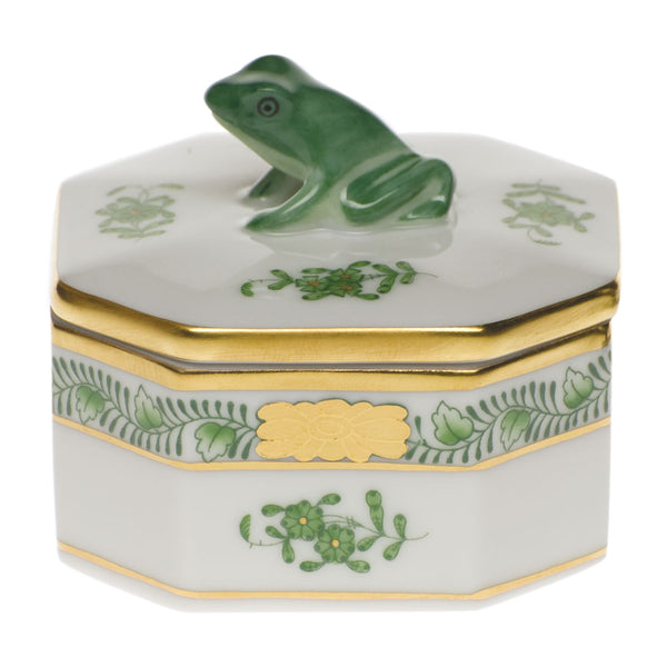 Herend Small Octagonal Box - Frog