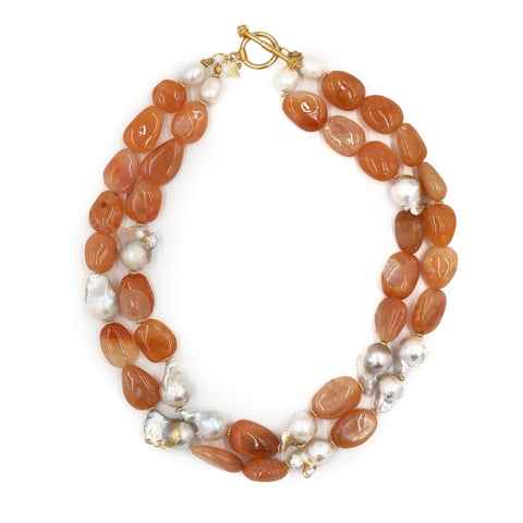 Hazen & Co. Abigail Necklace, Apricot