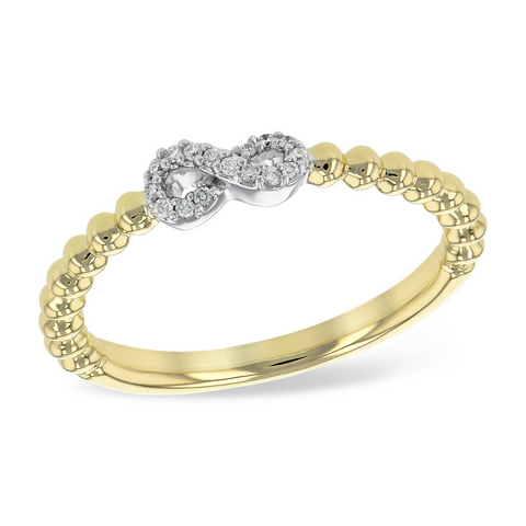 14 KT Yellow Gold and Diamond Band