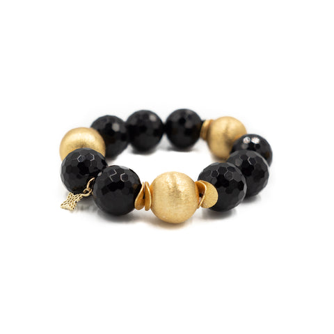 Hazen & Co. Addison Bracelet, Faceted Black Onyx