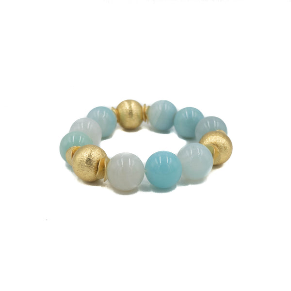 Hazen & Co. Addison Bracelet, Sky Blue Agate