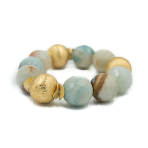 Hazen & Co. Addison Bracelet, Watercolor Agate