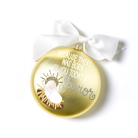 Coton Colors Luke 2:11 Glass Ornament