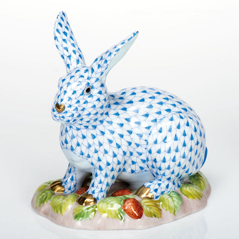 Herend Berry Bunny, Blue