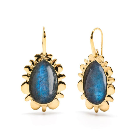 Capucine de Wulf Bliss Drop Earrings, Midnight Blue