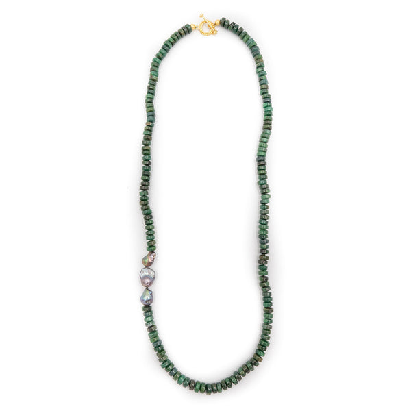 Hazen Brentwood Necklace, Emerald