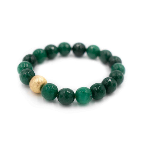 Hazen & Co. Brooke Bracelet, Green Agate