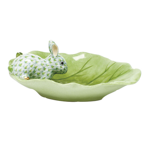 Herend Bunny On Cabbage Leaf, Key Lime