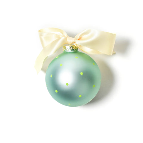 Coton Colors Just Engaged Glass Ornament