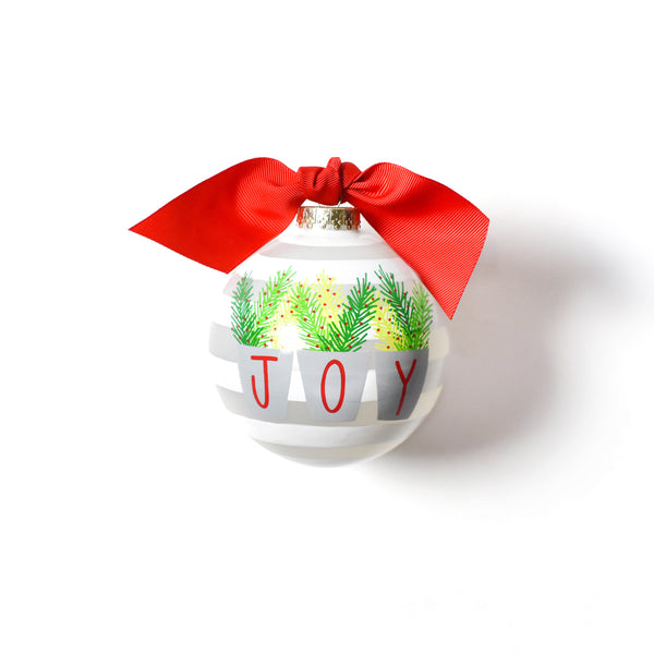 Coton Colors Joy Branches Glass Ornament