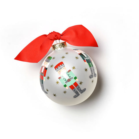 Coton Colors Nutcracker Glass Ornament