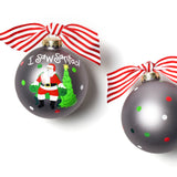 Coton Colors I Saw Santa Glass Ornament