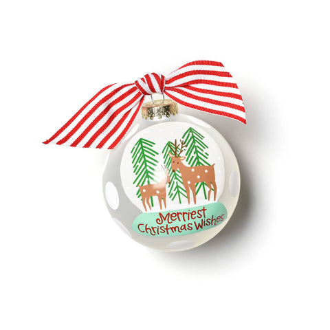 Coton Colors Christmas Wishes Snow Globe Glass Ornament