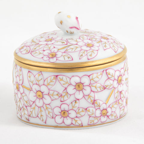 Herend ROUND RELIEF BOX WITH BERRY