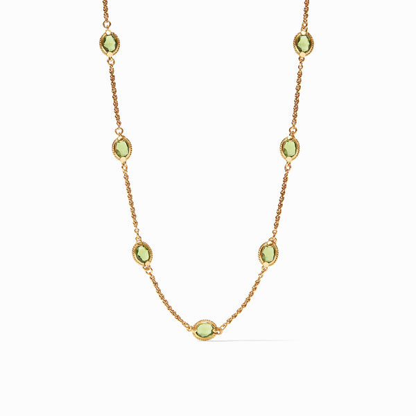 Julie Vos Calypso Demi Delicate Necklace, Jade Green
