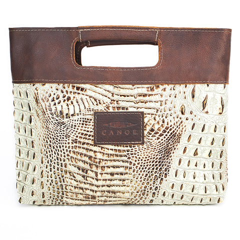 Canoe Simple Tote, Mock Croc